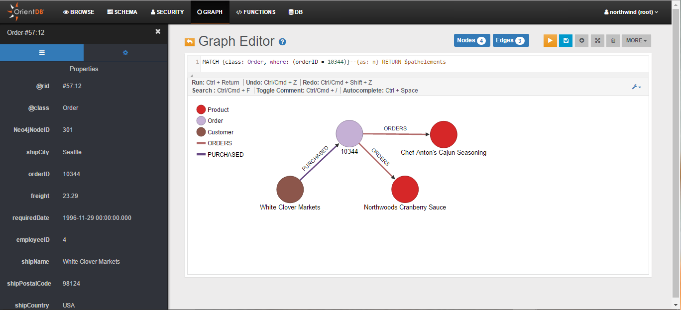Importing the northwind Database from Neo4j · OrientDB Manual