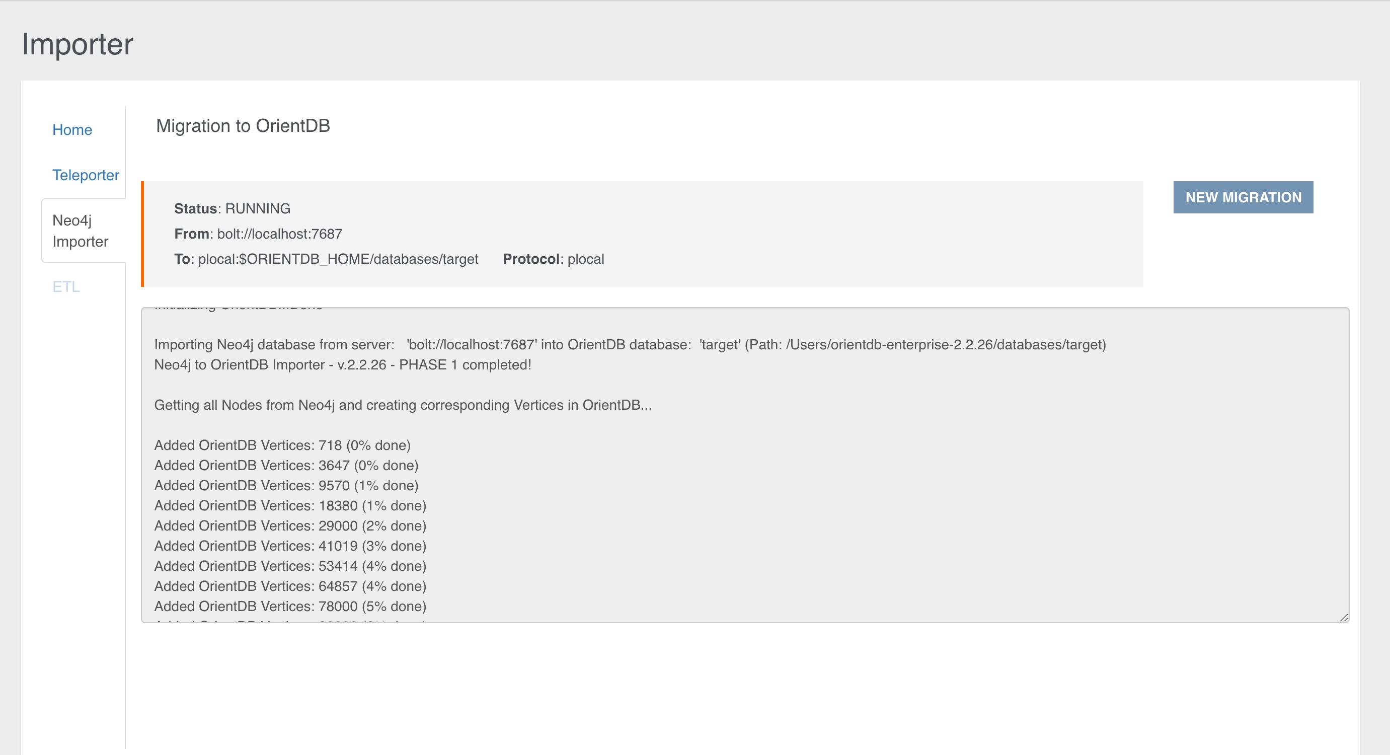 Integration with the Neo4j to OrientDB Importer · OrientDB Manual